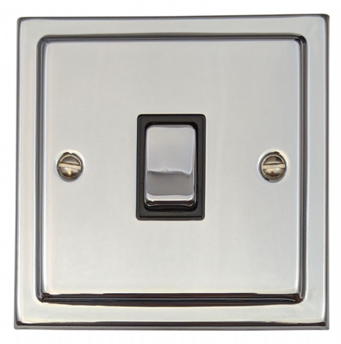 G&H TC305 Trimline Plate Polished Chrome 1 Gang Intermediate Rocker Light Switch